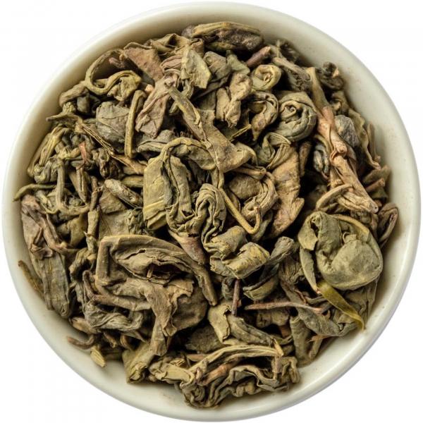 Зелёный чай Ганпаудер (крупнолистовой)