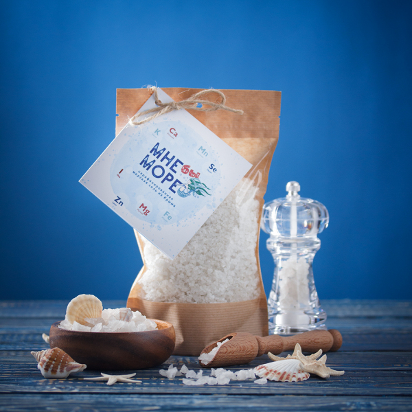 Соль морская нерафинированная (мелкий помол) 500 г.