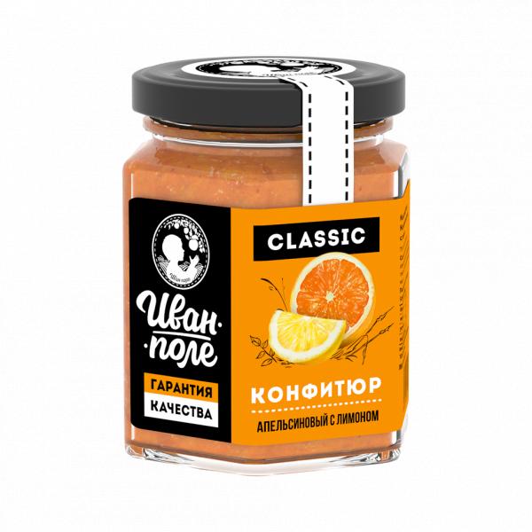 Конфитюр «Апельсиновый с лимоном» 230 мл.