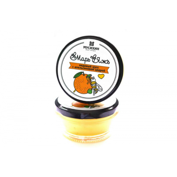 Медовый мусс с апельсиновой цедрой 120 г.