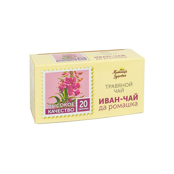 Травяной чай «Иван-чай с ромашкой» 20 пакетиков