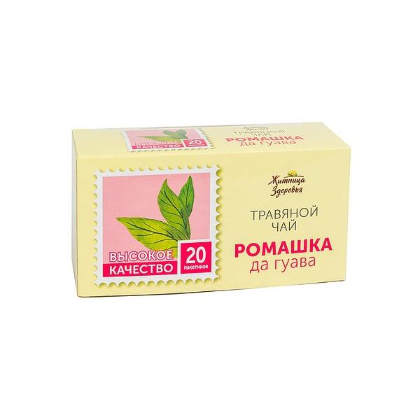 Травяной чай «Ромашка с гуавой» 20 пакетиков