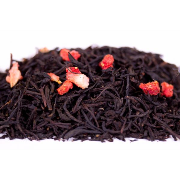 Чёрный чай «Земляника со сливками»